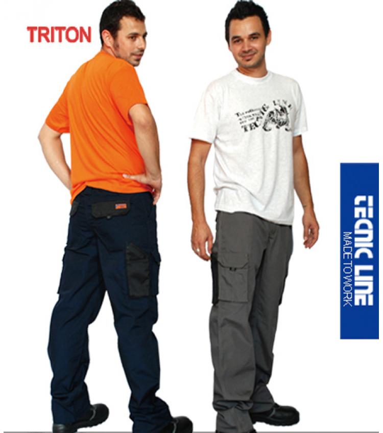 PANTALON TRITON BEIGE/NEGRO